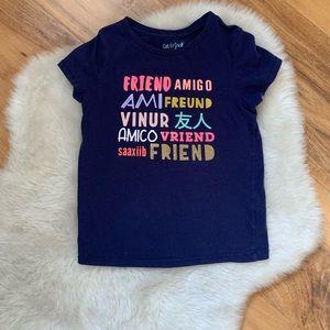 Cat & Jack Friends T-Shirt Sz 5T